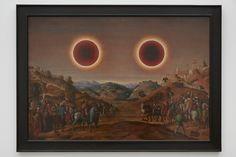 Laurent Grasso, Studies into the past, 2014, Oil on wood panel, 87,6 x 122,2 cm