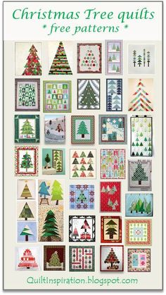 Quilt Inspiration: Free pattern day: Christmas 2015 (part - table runners, wall hangings, and quilts! Christmas Tree Quilt, Christmas Quilt Patterns, Christmas Sewing, Noel Christmas, Christmas Projects, Holiday Crafts, Christmas Quilting, Christmas Tables, Purple Christmas