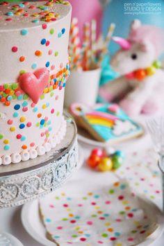 Pen N' Paper Flowers: CELEBRATE | Ella's Rainbow Unicorn Birthday Party