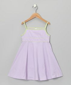 Loving this Purple & Lime Gingham Babydoll Dress - Toddler & Girls on #zulily! #zulilyfinds