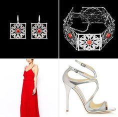 Cherry red dress & silver details: la nostra proposta di glam weekend! Il rosso è il colore sinonimo di forza energia e vitalità. Per bionde o more abbronzate, che sia abito o tuta scegliamo di abbinarvi accessori argento e gioielli in corallo Arkea R. Cercali su http://www.konk.it/shop-bijoux/ #Konkstyle #luxury #jewels #weekendstyle #bloggers