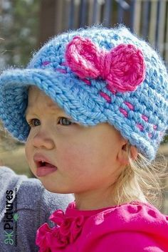 Free crochet baby cap pattern on Ravelry...so cute