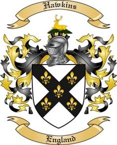 Hawkins Family Coat of Arms from England