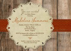 Rustic Fall Baby Shower Invitations  DIY Printable by PoofyPrints, $21.00