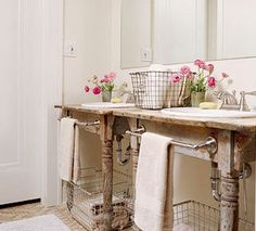Table vanity for the bathroom