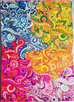 Creative Art Therapy Book An Anti Stress Colouring Page Done