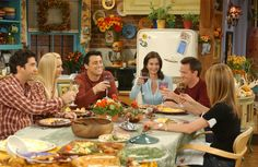 """Here come the meat sweats."" guide to friends thanksgiving"