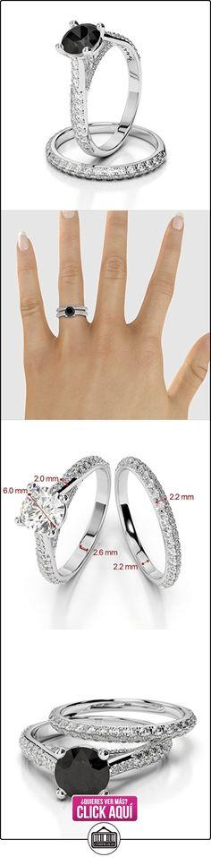 AG & Sons Hombre  750 Gold  oro blanco Round Brilliant Cut Round Brilliant   negro G-H diamante diamanre negro  ✿ Joyas para hombres especiales - lujo ✿ ▬► Ver oferta: https://comprar.io/goto/B01I4Q72AC