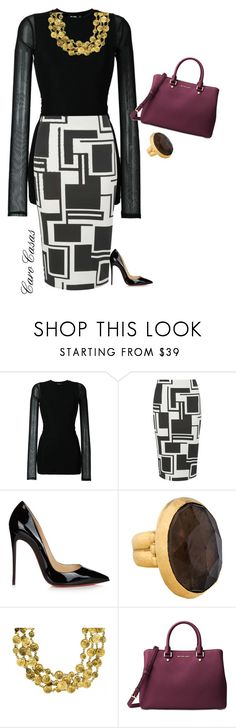 """""""Día 2"""" by carolinaca-i on Polyvore featuring BLK DNM, Dorothy Perkins, Christian Louboutin, Gurhan, Chanel and Michael Kors"""