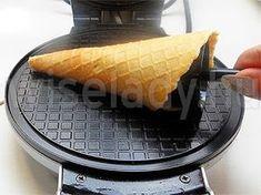 Ropogós mézes fagyitölcsér ostyasütőgéppel - Anya főztje
