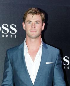Chris Hemsworth in fashion show for Hugo Boss in Singapore.