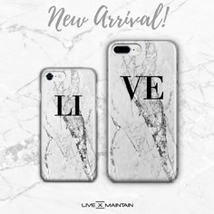643dbab7d47 Personalised Cracked White Marble case available online livexmaintain.com  link in bio. #livexmaintain
