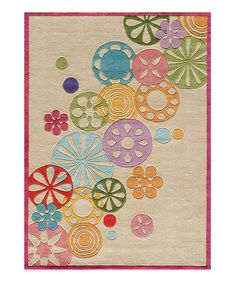 Ivory Falling Flowers Rug by Lil Mo by Momeni Rugs