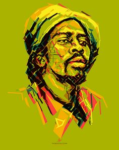 Bunny Wailer: Soul Rebel Portrait of Bunny Wailer for the Reggae Hall of Fame foundation. This poster is donated to raise funds to support the Alpha Boys School in Jamaica.