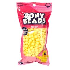 Kids Craft Plastic Pony Beads, Yellow