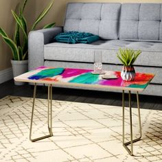 East Urban Home Jacqueline Maldonado Coffee Table Table Top Color: Red/Green Triangle Coffee Table, Tiled Coffee Table, 2 Coffee Tables, Stone Coffee Table, Garden Coffee Table, Coffee Table Wayfair, Lift Top Coffee Table, Tufted Storage Ottoman, Accent Furniture
