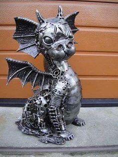 little steampunk dragon by Tom Samui