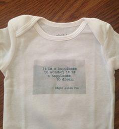 Edgar Allan Poe Onesie Newborn by AmpersandBookWorld on Etsy