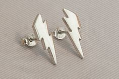 Lightning studs 925 sterling silver Gold post Mothers Friend, 14k Earrings, Treasure Chest, Handmade Sterling Silver, Earring Backs, Stone Pendants, Shopping Mall, Etsy Handmade, Jewelry Supplies