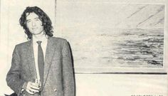 Jimmy Page of Led Zeppelin at an art gallery in the late 1970s