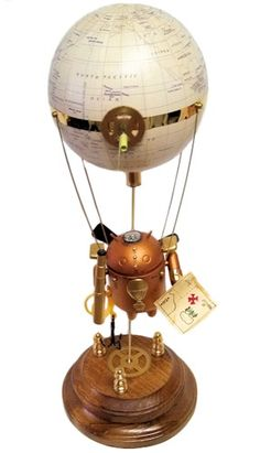 """'Steampunk Navigator' by DMO. Giant 13'5"""" #android custom."""