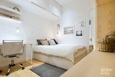 #dormitorios juvenil de chica. Tonos claros para potenciar la #luminosidad #drömliving #interiorismo