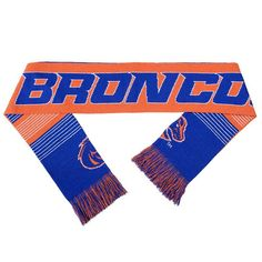 Adult Forever Collectibles Boise State Broncos Reversible Scarf, Blue