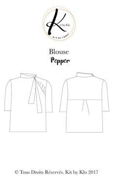 Blouse pepper, kit by klo