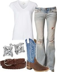 My favorite outfits. Blue jeans, boots and diamonds