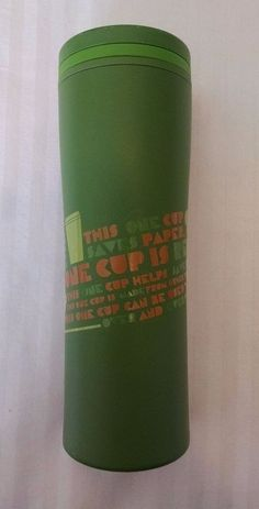 Starbucks Travel Tumbler Green 20 oz Recycled L This Cup Helps Save the Planet #Starbucks