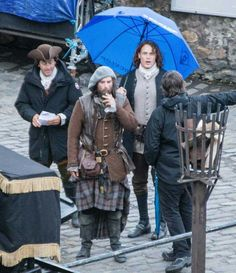 "Sam Heughan and Duncan Lacroix ~ filming #Outlander ""Dragonfly in Amber"" season 2"