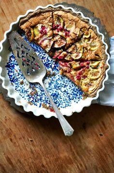 Fig & Hazelnut Creme Tart with Buckwheat Crust (gluten-free)   Sassy Kitchen