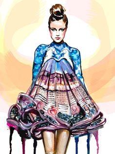 Mary Katrantzou Illustration Competition http://travelwritedraw.blogspot.co.at/search/label/Illustrations