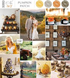 Style: Pumpkin Patch Magnolia Rouge, whimsical, fall; Colors: Brown, Orange, Mustard, Gold