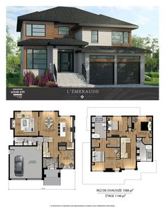 Maisons de prestige – Contemporaines à vendre Sims 4 House Plans, Modern House Floor Plans, House Layout Plans, Family House Plans, Contemporary House Plans, Bedroom House Plans, Dream House Plans, House Layouts, Luxury Floor Plans
