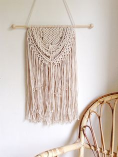 Macrame Wall Hanging 2 Sizes Wall Decor Wedding by MaisyandAlice