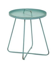 Reiley Teal Handle Table