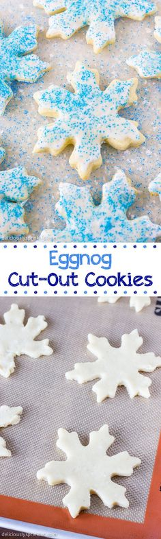 Eggnog-Cut-Out-Cookies- a Christmas cookie favorite at our house! Eggnog-Cut-Out-Cookies- a Christmas cookie favorite at our house! Merry Christmas, Christmas Goodies, Christmas Treats, Holiday Treats, All Things Christmas, Holiday Recipes, Christmas Holidays, Christmas Recipes, Winter Treats