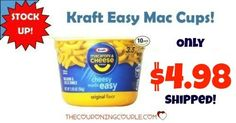 HOT BUY on Kraft Easy Mac Cups! Get a 10 pack for only $4.98 shipped! That is only $0.50 each! Great for a quick lunch or snack!  Click the link below to get all of the details ► http://www.thecouponingcouple.com/kraft-easy-mac-cups-only-6-86-shipped-for-10-count/ #Coupons #Couponing #CouponCommunity  Visit us at http://www.thecouponingcouple.com for more great posts!