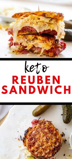 If you love meals that leave the whole family happy, you are going to love this Keto Reuben Sandwich.  This low carb recipe is so ridiculously full of flavor. I am so happy that I found this deliciously easy recipe.  #lowcarb #lowcarb #keto #ketorecipes Gluten Free Recipes For Breakfast, Healthy Gluten Free Recipes, Gluten Free Dinner, Ketogenic Recipes, Keto Dinner, Lunch Recipes, Easy Dinner Recipes, Low Carb Recipes, Real Food Recipes