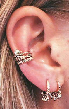 Cute Ear Piercing Ideas Conch Piercing Cuff Earring Simple Tumblr - MyBodiArt.com