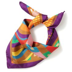 Plum Geo Scarf by Collier Campbell