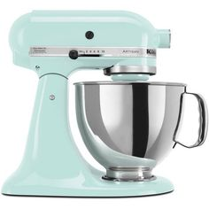 KitchenAid KSM150PSIC Ice 5-quart Artisan Tilt-Head Stand Mixer **with... ($349) ❤ liked on Polyvore featuring home, kitchen & dining, small appliances, kitchen, blue, kitchenaid, kitchen aid stand mixers, kitchenaid stand mixer, kitchenaid standing mixer and kitchenaid mixer #HomeAppliancesStand