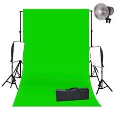 #photography background effect with lighting and green screen