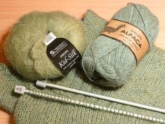 """""""Tricoter avec un fil double"""" par boitamalice sur In the Loop Simply Knitting, Easy Knitting, Knitting Stitches, Knitting Yarn, Knitting Patterns, Homemade Baby Blankets, Kiro By Kim, Wool Thread, Brick Stitch"""