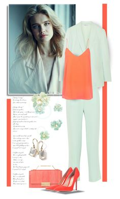 """""""Coral and Mint"""" by bliznec ❤ liked on Polyvore featuring T By Alexander Wang, J. Mendel, Gianvito Rossi, Blaque Label and Ippolita"""
