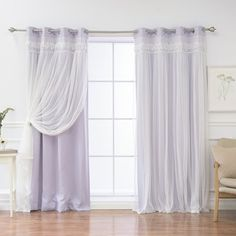 August Grove Muier Solid Blackout Thermal Grommet Curtain Panels Color: Lilac, Size: 52 x 84