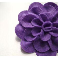 Purple felt flower ponytail holder- Purple felt flower headband (30 RON) found on Polyvore