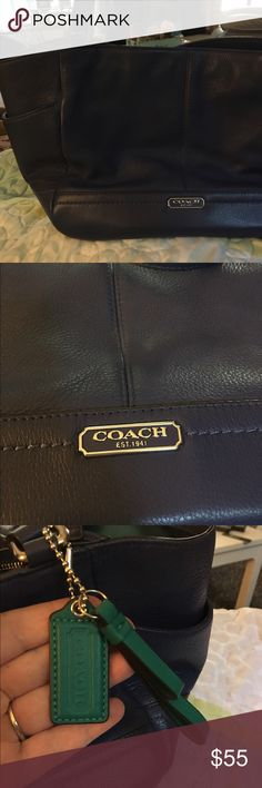 Authentic Coach 👛 Dark blue, new & original with green tag. Coach Bags Shoulder Bags