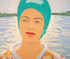 Alex Katz, Ada with Bathing Cap (1982) Oil on Linen, 152.5 x 183 cm / 60 x 72 in.